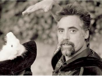 Wizard holding bunny